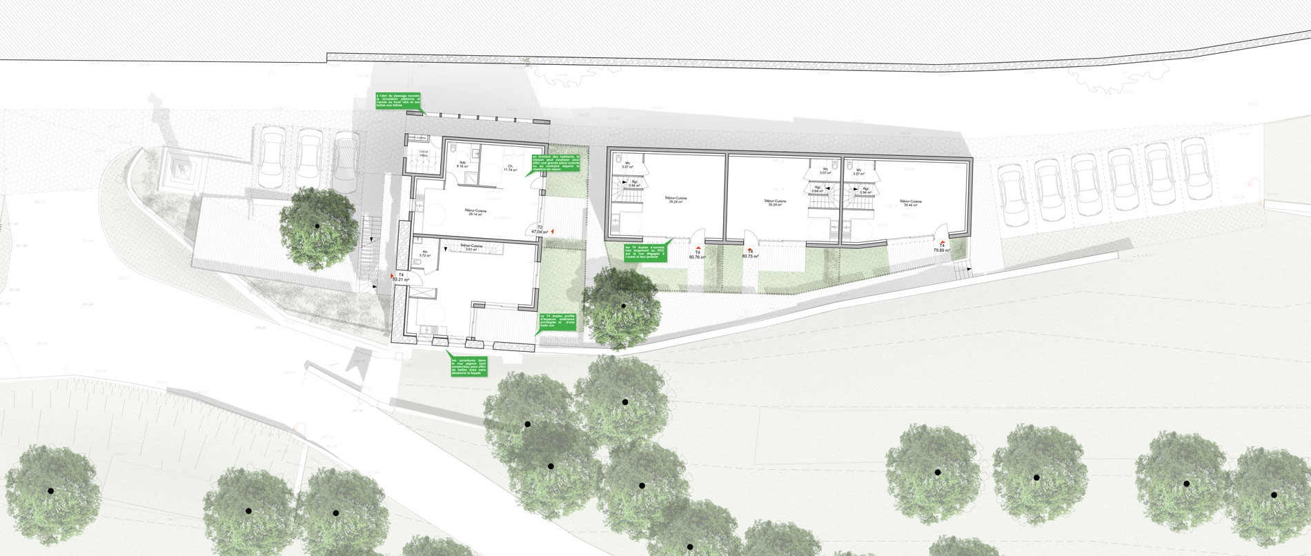 ASB-logement-rehabilitation-saint-jeoire-architecture-plan-masse-rdc-3