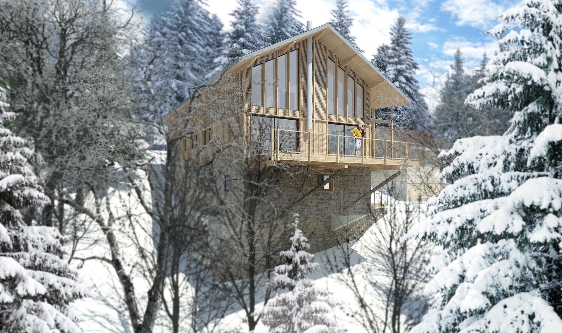 ASB architecte-savoie-chalet-contemporain-bois- tourisme