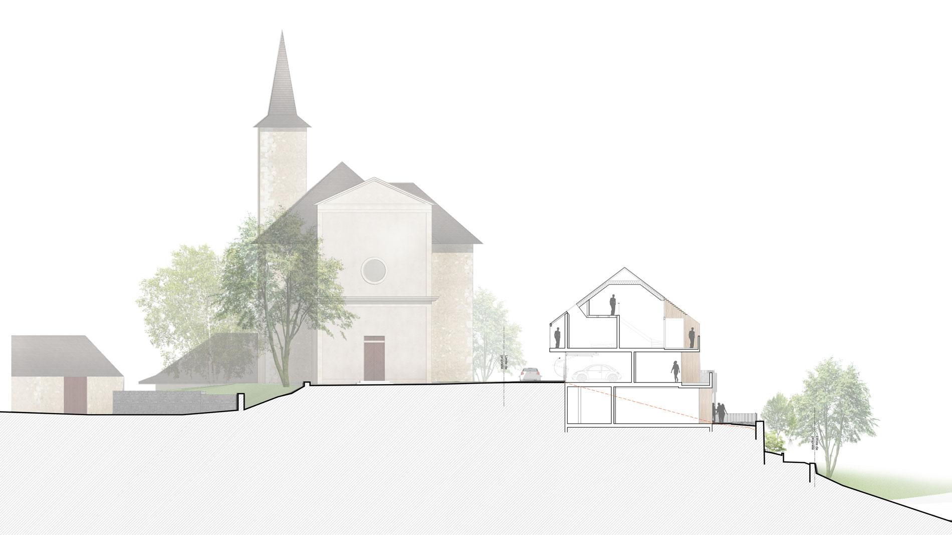 concours-saint-sulpice-savoie-logements-chef-lieu-habitat-dans-la-pente-coupe-1