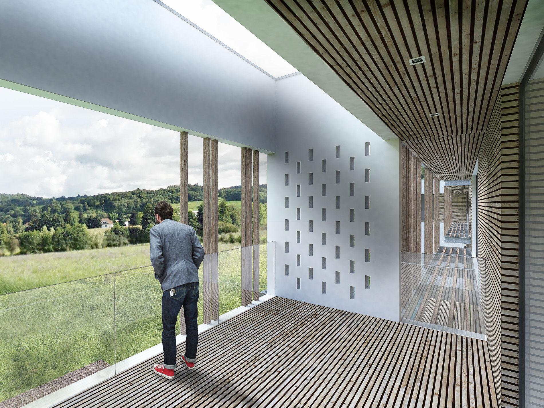 maison-contemporaine-toiture-terrasse-bois-metal-brique-piscine-spa-1
