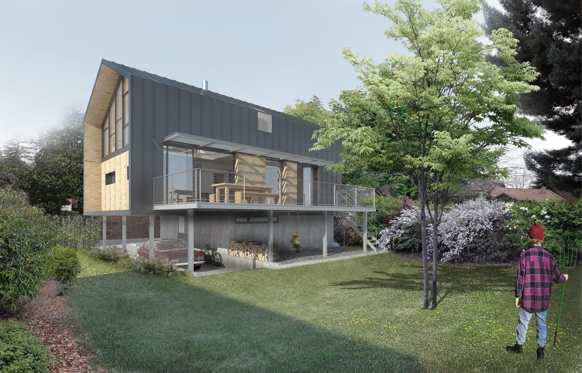 ASB architecture architecte chambery maison individuelle contemporaine bois tresserve savoie